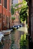 Kanäle von Venedig Stockbild