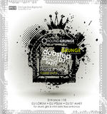 Kan als prentbriefkaar worden gebruikt Vector illustratie Grungeachtergrond met een kleurrijk effect van de regenbooginkt splat G Stock Fotografie