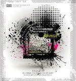 Kan als prentbriefkaar worden gebruikt Vector illustratie Grungeachtergrond met een kleurrijk effect van de regenbooginkt splat G Stock Foto's