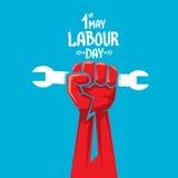 1 kan - arbetedagen affisch för vektorarbetedag Royaltyfri Bild