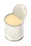 Kan av sötat förtätat mjölka Royaltyfri Bild