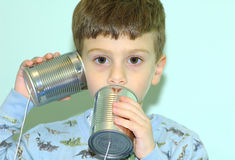 kan barntelefonen royaltyfri fotografi