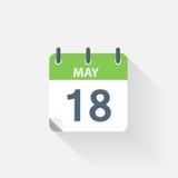 18 kan calendar symbolen Arkivbild