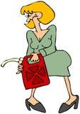 kan den att bära gaskvinnan vektor illustrationer