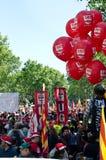 kan den barcelona dagdemonstrationen 2012 spain Royaltyfria Foton