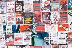 kan den barcelona dagdemonstrationen 2012 spain Arkivfoto