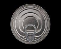 kan den mat isolerade över huvudet sikten för tin för pullcirkeln Arkivfoto