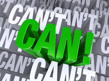 Kan doen! Stock Foto