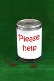 kan donation Arkivbild