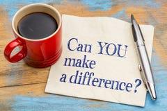 Kan du göra en skillnad? Royaltyfria Foton