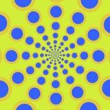 Kan eindeloos worden herhaald spiraal De concentrische cirkels Het silhouet van de spiraal vector illustratie