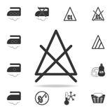 kan geen gebleekt pictogram zijn Gedetailleerde reeks wasserijpictogrammen Het grafische ontwerp van de premiekwaliteit Één van d stock illustratie