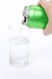 kan glass grönt sodavatten Royaltyfri Bild