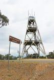 Kan het spilkop-hoofddievooruitzicht van MT Tarrengower, als brand-bevlekkende toren sinds 1950 wordt gebruikt, worden beklommen  Royalty-vrije Stock Foto