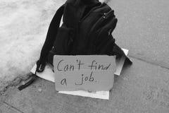 Kan inte finna ett jobb arkivfoton