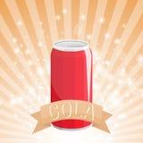 Kan Kola illustratie drinken stock illustratie
