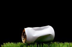 kan krossat kastad white för gräs sodavatten Royaltyfri Bild