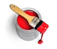 kan måla paintbrushen stock illustrationer