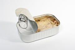 Kan met tonijn Royalty-vrije Stock Fotografie