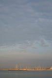 Kan Pastilla-jachthaven bij dageraad Royalty-vrije Stock Afbeeldingen