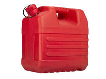 kan plastic red Royaltyfria Bilder