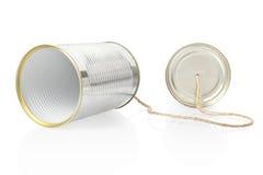kan telephone Royaltyfri Bild