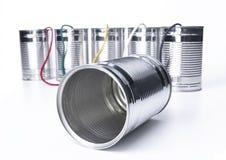 kan telephone tin Royaltyfria Bilder