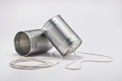 kan telephone tin Arkivfoto