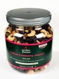 Kan van de Mengeling van de de Amandelsleep van Archer Farms Cashew Cranberry op een Witte Achtergrond royalty-vrije stock afbeeldingen