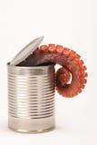 Kan van octopus Stock Fotografie