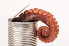 Kan van octopus Royalty-vrije Stock Fotografie