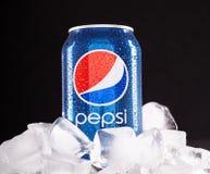 Kan van Pepsi Stock Afbeeldingen
