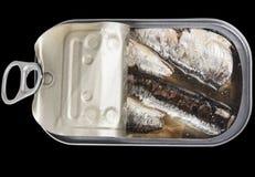 Kan van sardines Royalty-vrije Stock Foto's