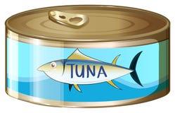 A kan van tonijn stock illustratie