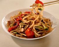 Kan Wang Noodles Stock Afbeelding