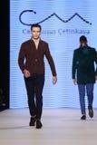 Kan Yunus Cetinkaya Catwalk in Mercedes-Benz Fashion Week Istanb Stock Foto's