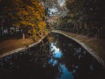 Kanał w parku zdjęcie royalty free