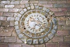 Kanał ściekowy okładkowy Wilhelmshaven obraz royalty free