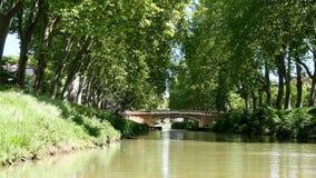 Kanał du Midi w mieście Tuluza, Francja zbiory