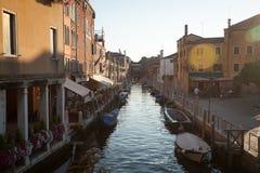 Kanał Grande i bazyliki Santa Maria della Salutuje, Wenecja, Włochy Obrazy Royalty Free