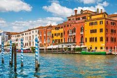 Kanał Grande panoramicznego widoku Wenecja Włochy architektura Fotografia Royalty Free