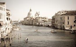 Kanał Grande rocznik, Wenecja Zdjęcia Stock