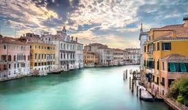 Kanał Grande scena, Wenecja Zdjęcie Royalty Free