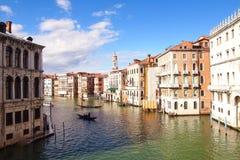 Kanał Grande Włochy Obraz Royalty Free