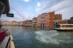 Kanał Grande w Venice, Włochy Zdjęcie Royalty Free