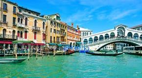 Kanał Grande w Wenecja, Włochy obrazy royalty free