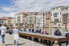 Kanał Grande w Wenecja, Włochy Fotografia Royalty Free