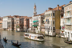 Kanał Grande, Wenecja -2 obrazy royalty free