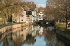 Kanał w Francja Małym terenie, Strasburg Fotografia Stock