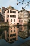 Kanał w Francja Małym terenie, Strasburg Zdjęcia Royalty Free